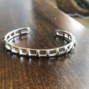 Stella and dot silver latter bracelet